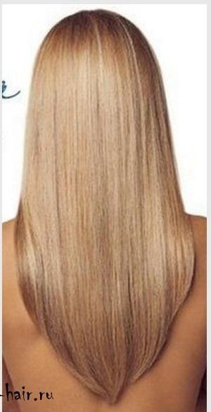 Прическа на средние волосы сзади треугольником