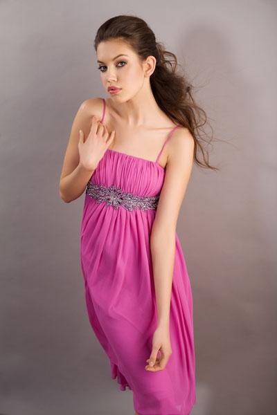 Вечерние платья - модель 2556A-1 fuchsia.