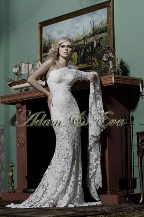 Шикарные свадебные платья со стразами.