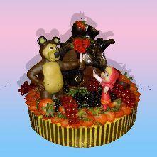 """Подарки Детский торт  """"Маша и Медведь."""