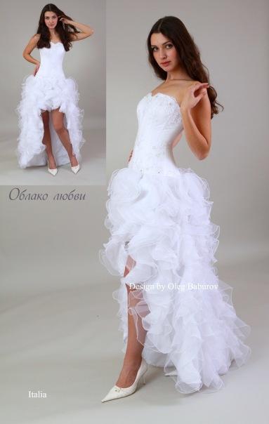 Платье из полиэтиленовых пакетов для показа мод из