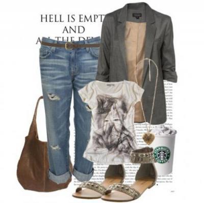 С чем носить джинсы.  Фото.