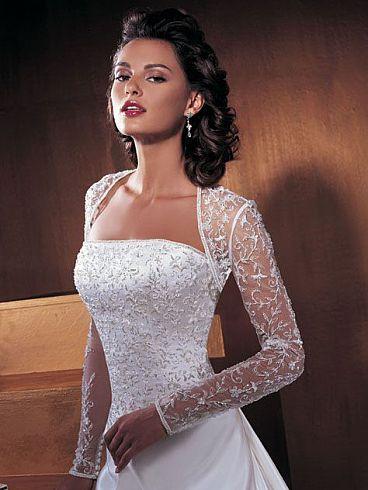 свадебные платья с болеро (34 рисунки )| Модные платья 2012