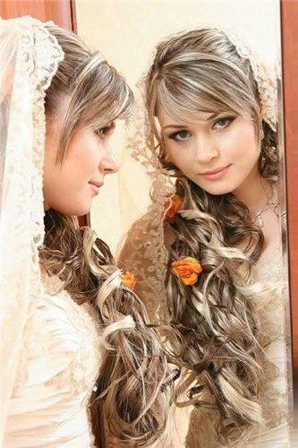 Свадебные прически для мелированных волос