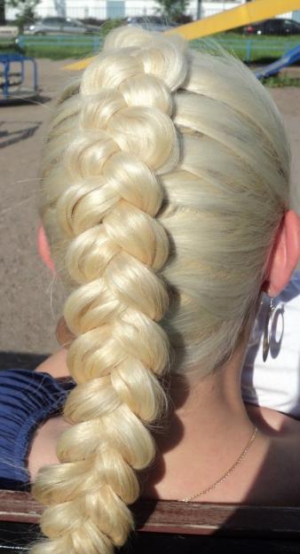 Плетение косичек колосок схема - Прическа для красоты.