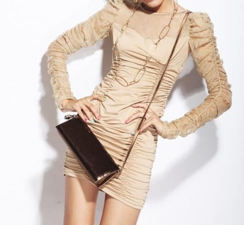 Платье с длинными рукавами фото.