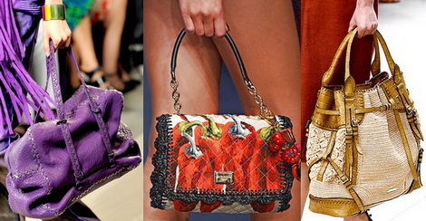 Модные сумки весна-лето 2012 - фото: яркая сумка Bottega Veneta...