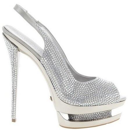Обувь для всех - Белые туфли со стразами. Купить обувь