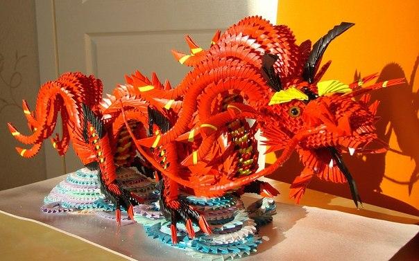 Китайские драконы модульное оригами