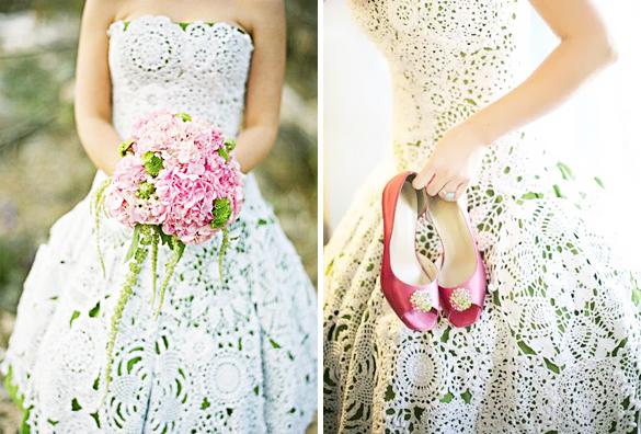 Свадебные платья вязаные