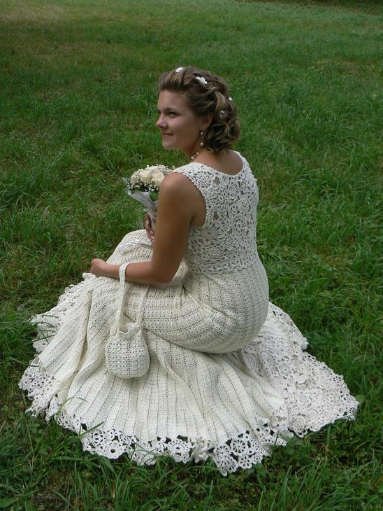 Своими руками свадебное платье фото