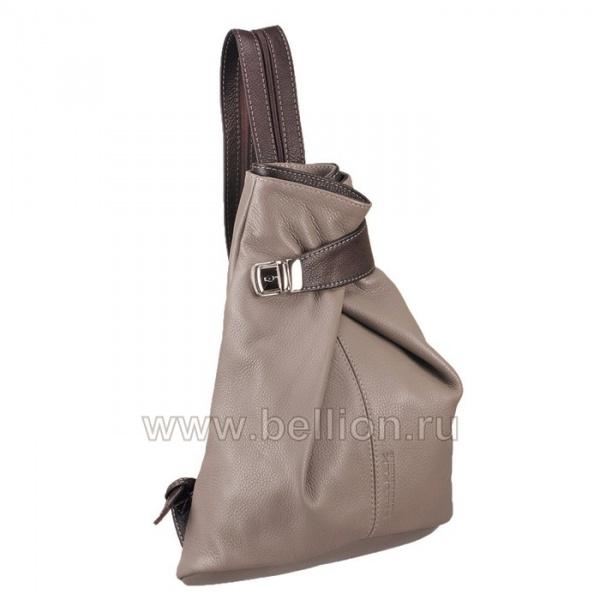 Оригинальная женская сумка - рюкзак модного серо-бежевого цвета.  Удобные застежки и ручки.  Женская сумка, легкая на...