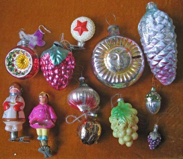 елочные игрушки 70-80 годов фото