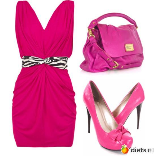 Розовые туфли на каблуке Розовые.