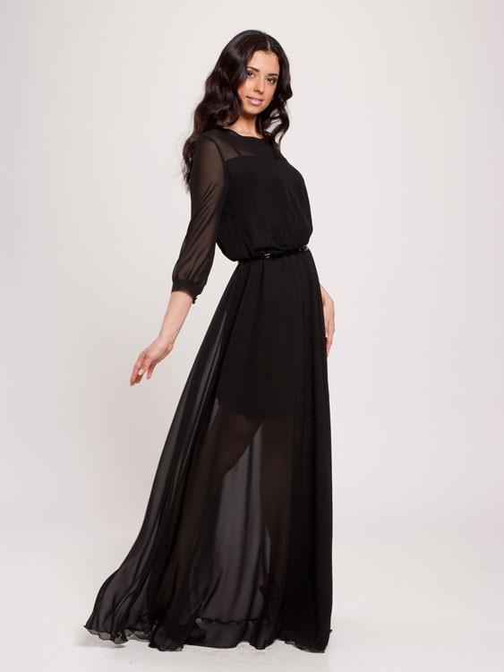 Стильное Платье Из Шифона