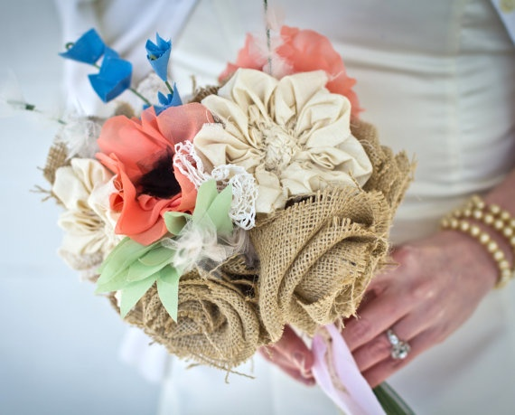Свадебные букеты в винтажном стиле.