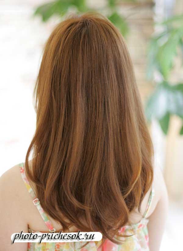 стрижка на длинные волосы полукругом сзади фото