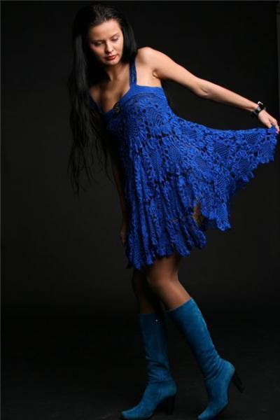 Платье купить вязаные крючком платья