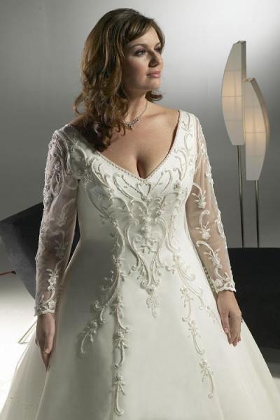 ...свадебное платье с прозрачными рукавами для полненькой.