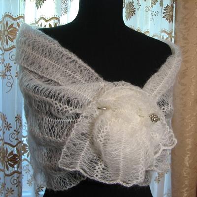 вязание мужского шарфа и
