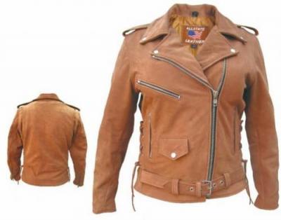 Коричневая кожаная куртка, Jan and Carlos.