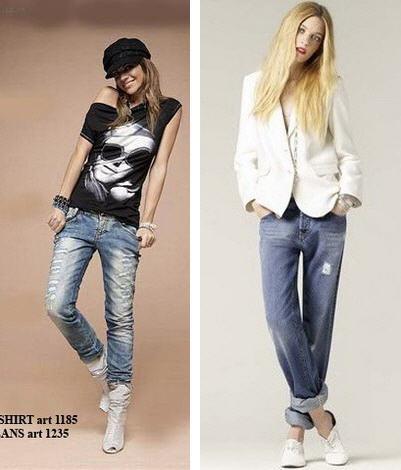 Модные джинсы 2010 - это потертости и дырки.