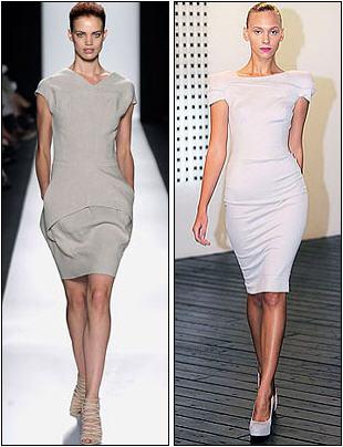 Как правила, длина такого платья чуть ниже