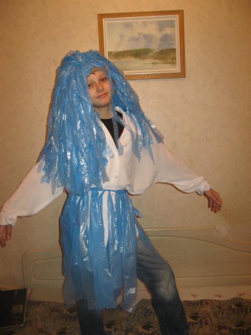 Сделать костюм водяного из подручных материалов