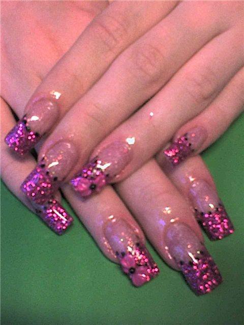 Дизайн ногтей - Рисунки на ногтях акриловыми красками.