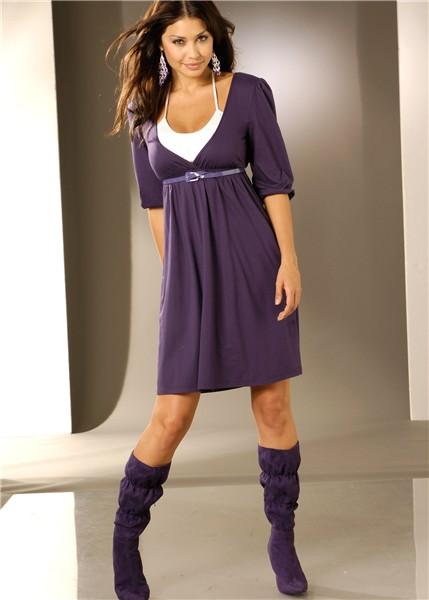 Трикотажные платья в пол платья