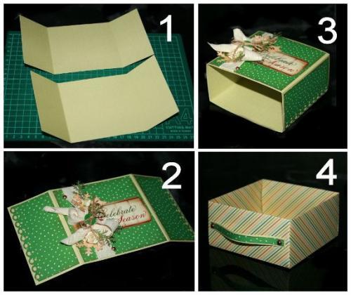 Как сделать красивую коробочку своими руками из бумаги