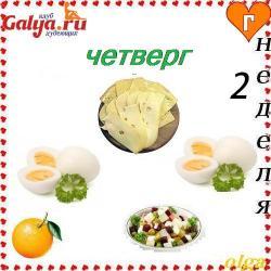 Легкая яичная диета на 2 недели с меню на каждый