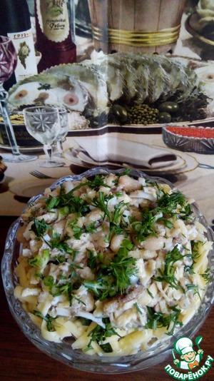 Салат из шпротов фото